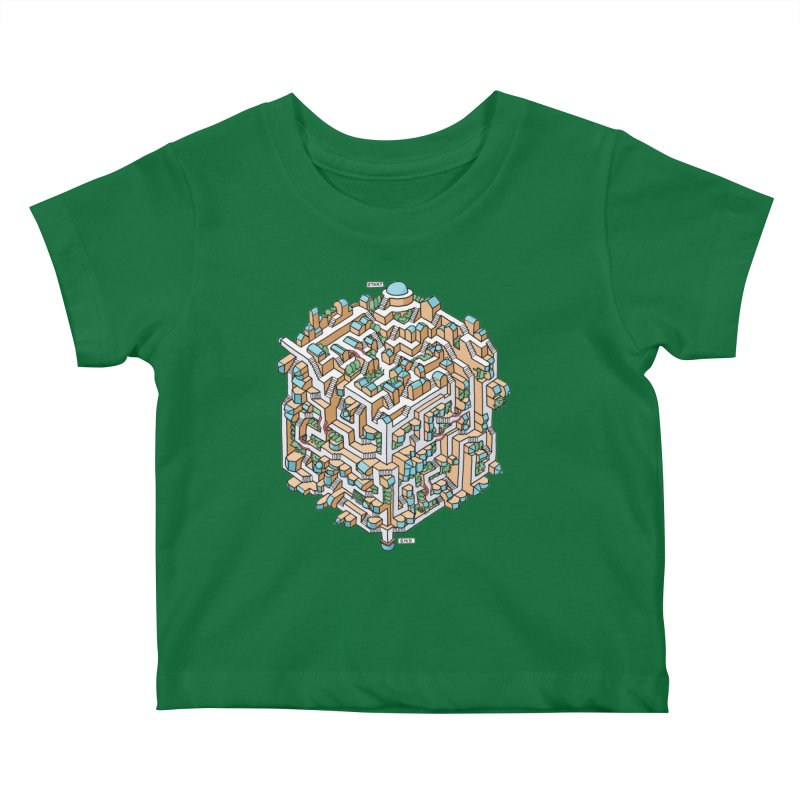 Cube Maze Kids Baby T-Shirt by Sean C Jackson