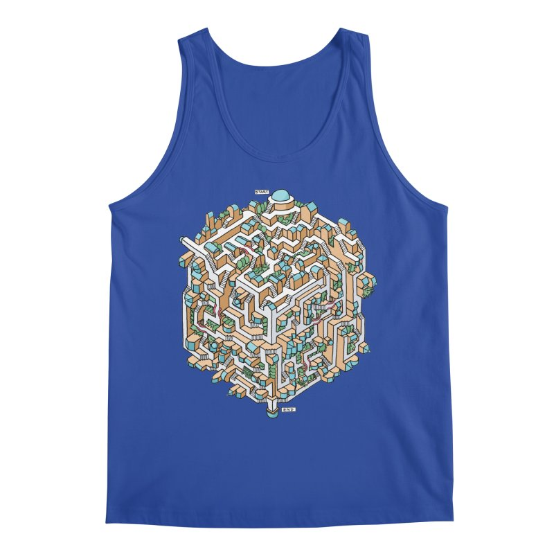 Cube Maze Men's Tank by Sean C Jackson