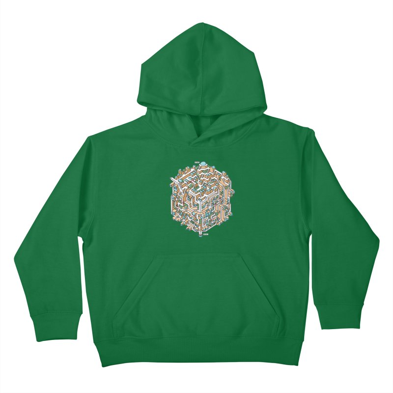 Cube Maze Kids Pullover Hoody by Sean C Jackson