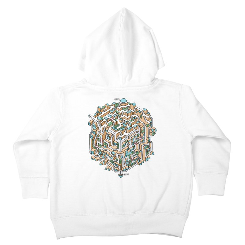 Cube Maze Kids Toddler Zip-Up Hoody by Sean C Jackson