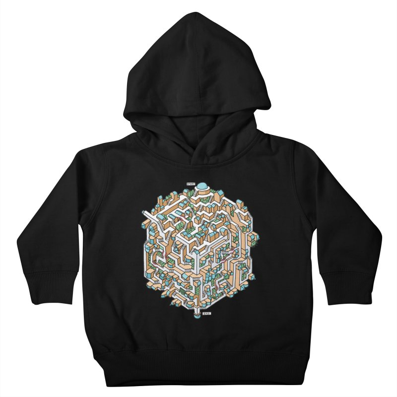 Cube Maze Kids Toddler Pullover Hoody by Sean C Jackson