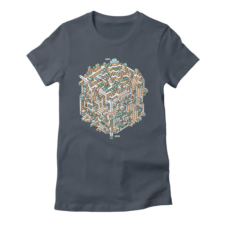 Cube Maze Women's T-Shirt by Sean C Jackson