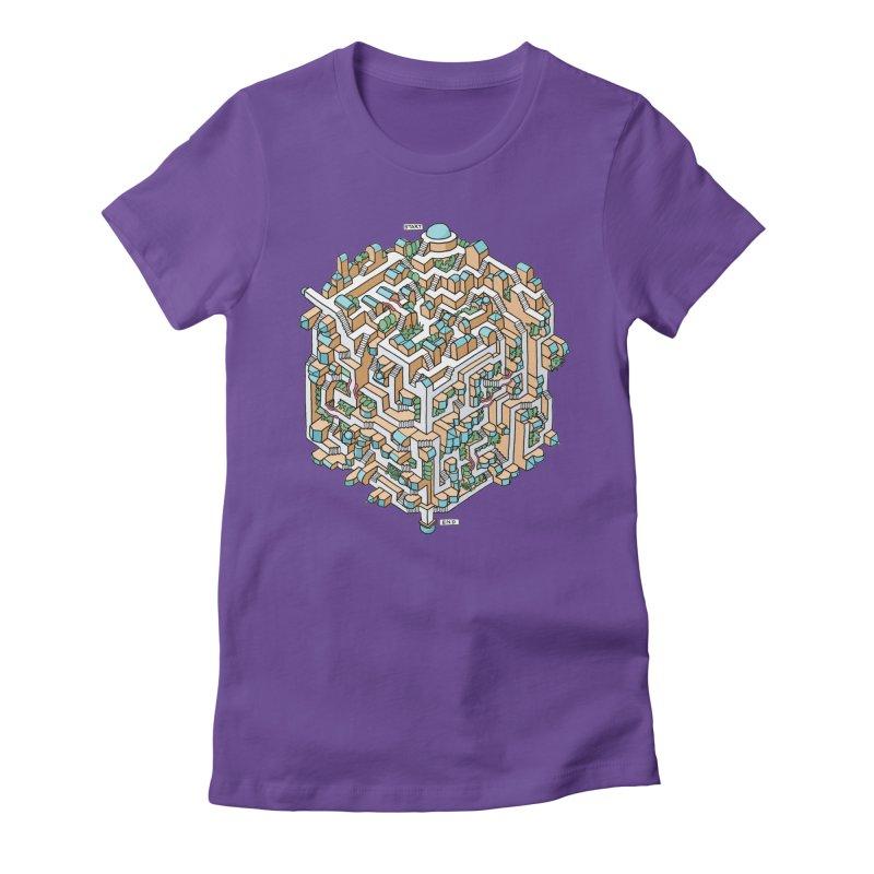 Cube Maze Women's T-Shirt by Sean C Jackson