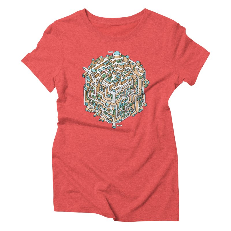 Cube Maze Women's Triblend T-Shirt by Sean C Jackson