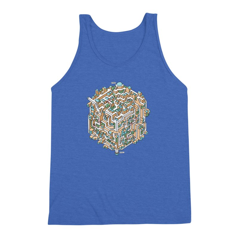 Cube Maze Men's Triblend Tank by Sean C Jackson