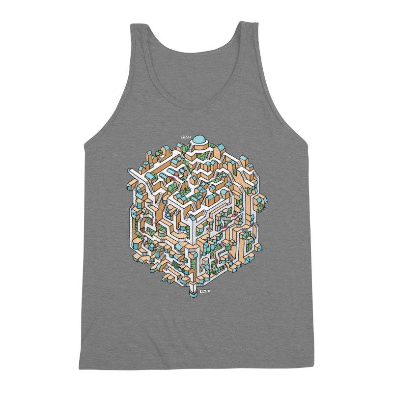 Cube Maze Men's Triblend Tank by Sean C Jackson