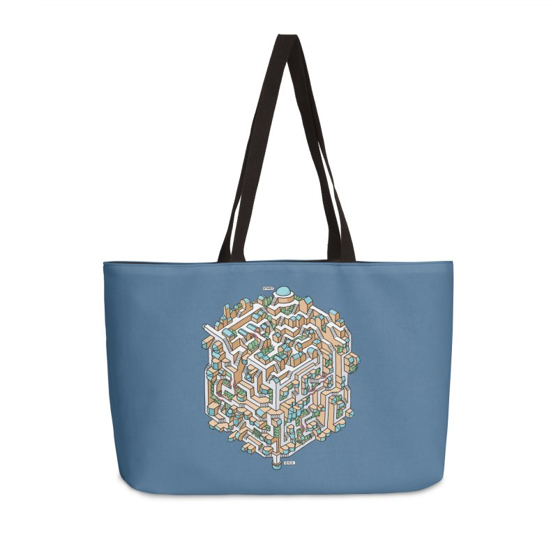 Cube Maze Accessories Weekender Bag Bag by Sean C Jackson