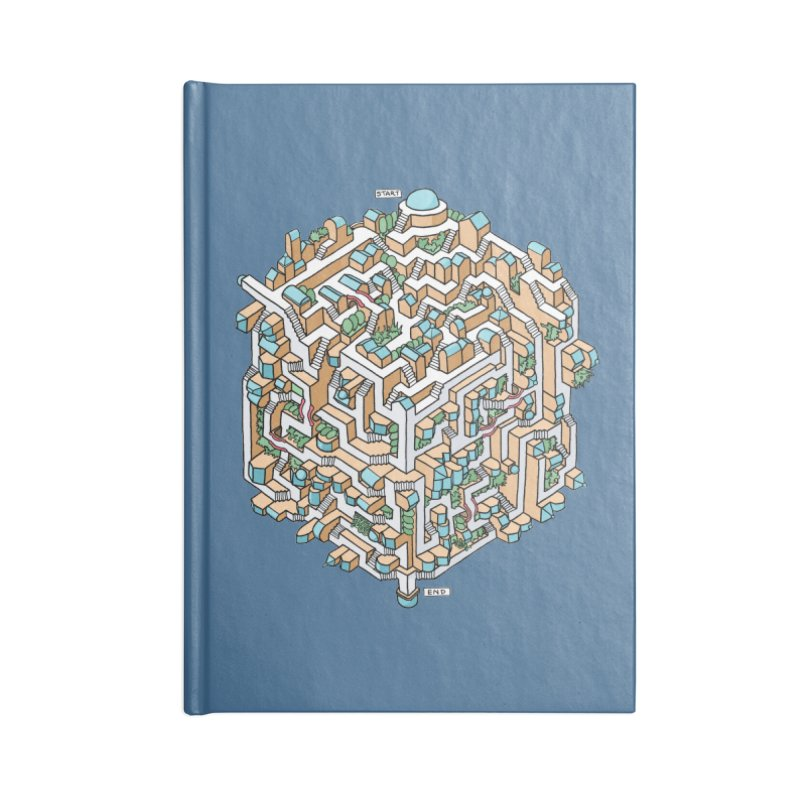 Cube Maze Accessories Blank Journal Notebook by Sean C Jackson