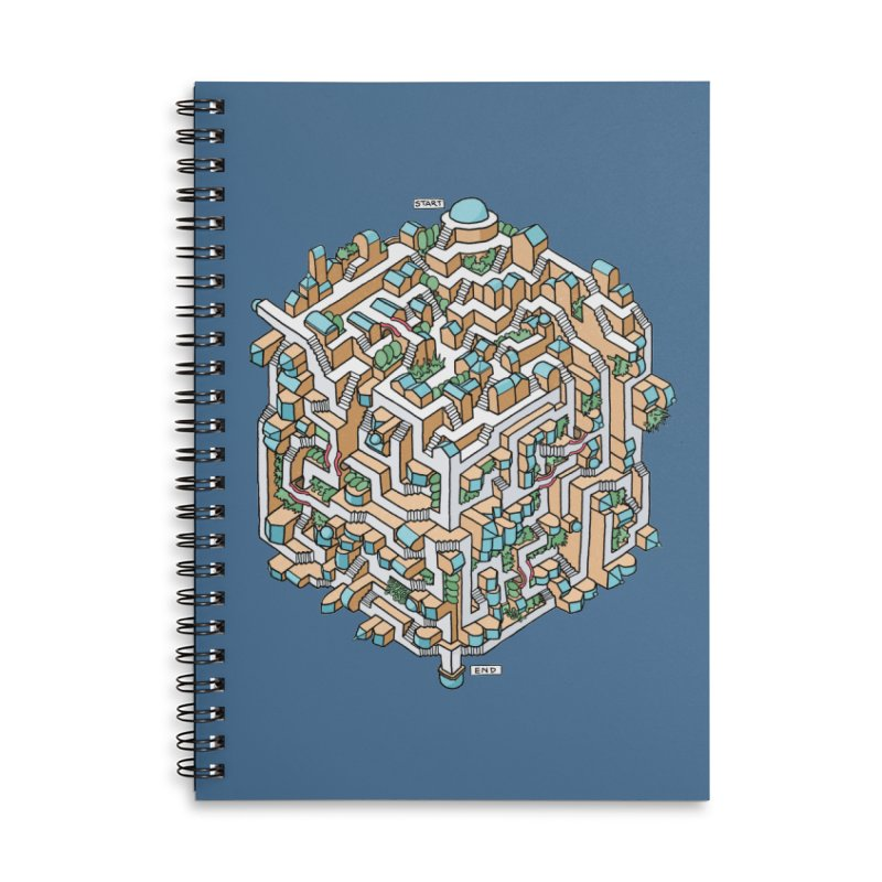 Cube Maze Accessories Notebook by Sean C Jackson
