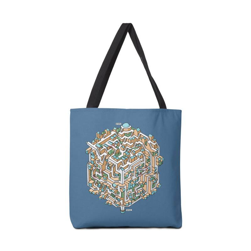 Cube Maze Accessories Tote Bag Bag by Sean C Jackson