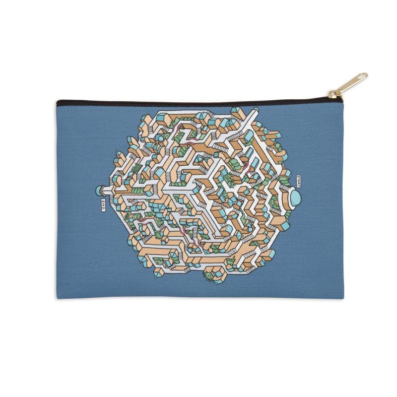Cube Maze Accessories Zip Pouch by Sean C Jackson