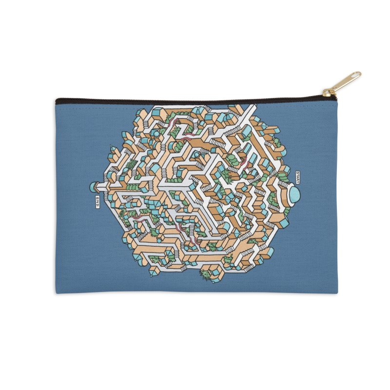 Cube Maze Accessories Zip Pouch by Sean C Jackson