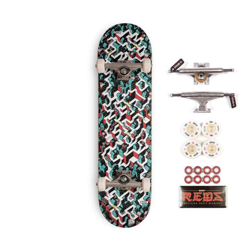 Skate Maze Noir Accessories Complete - Pro Skateboard by Sean C Jackson