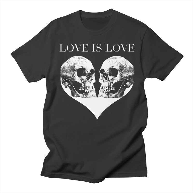 LOVE IS LOVE - Skulls Men's T-Shirt by Gothman Flavored Clothing