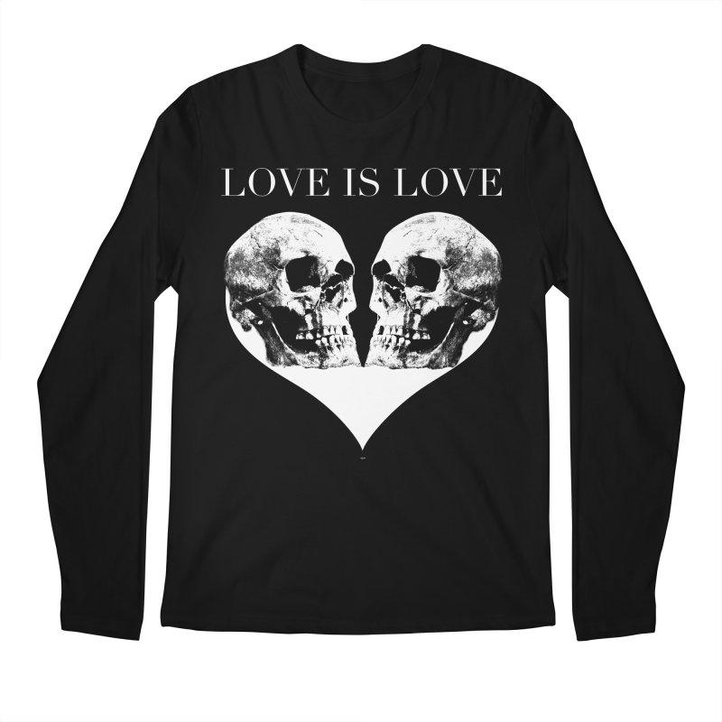 LOVE IS LOVE - Skulls Men's Regular Longsleeve T-Shirt by Gothman Flavored Clothing