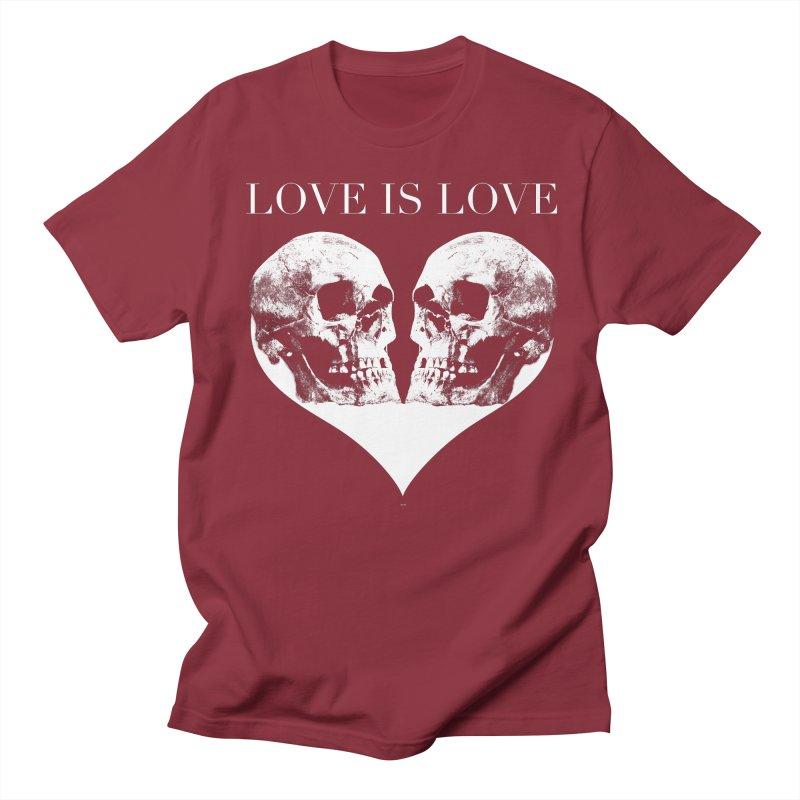 LOVE IS LOVE - Skulls Women's Regular Unisex T-Shirt by Gothman Flavored Clothing