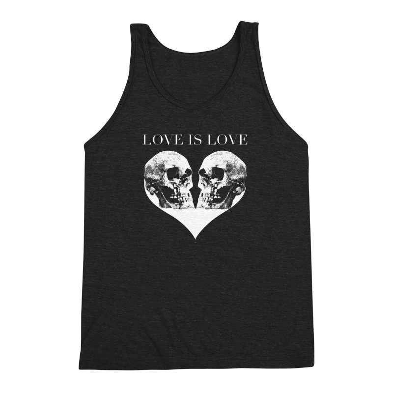 LOVE IS LOVE - Skulls Men's Triblend Tank by Gothman Flavored Clothing