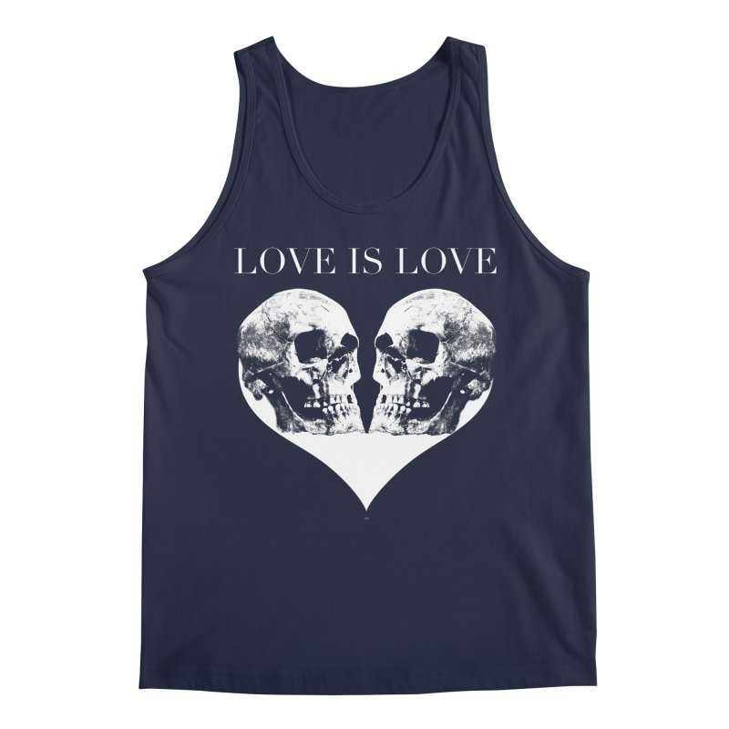 LOVE IS LOVE - Skulls Men's Regular Tank by Gothman Flavored Clothing