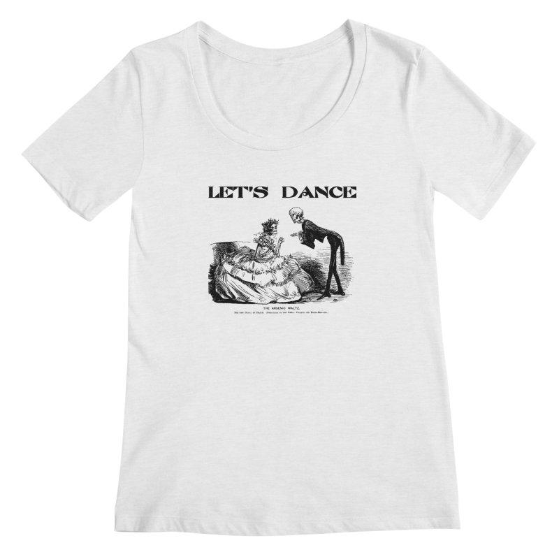 Let's Dance - (Light Colors) Women's Regular Scoop Neck by Gothman Flavored Clothing
