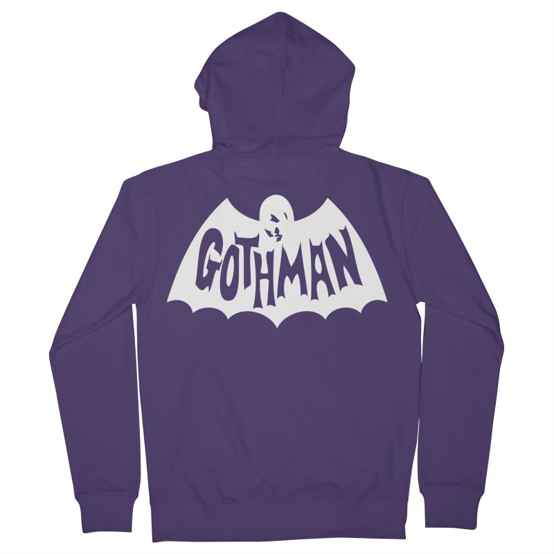 Gothman Classic White Women's Zip-Up Hoody by Gothman Flavored Clothing