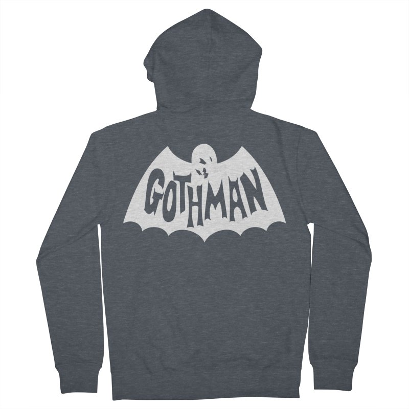 Gothman Classic White Men's French Terry Zip-Up Hoody by Gothman Flavored Clothing