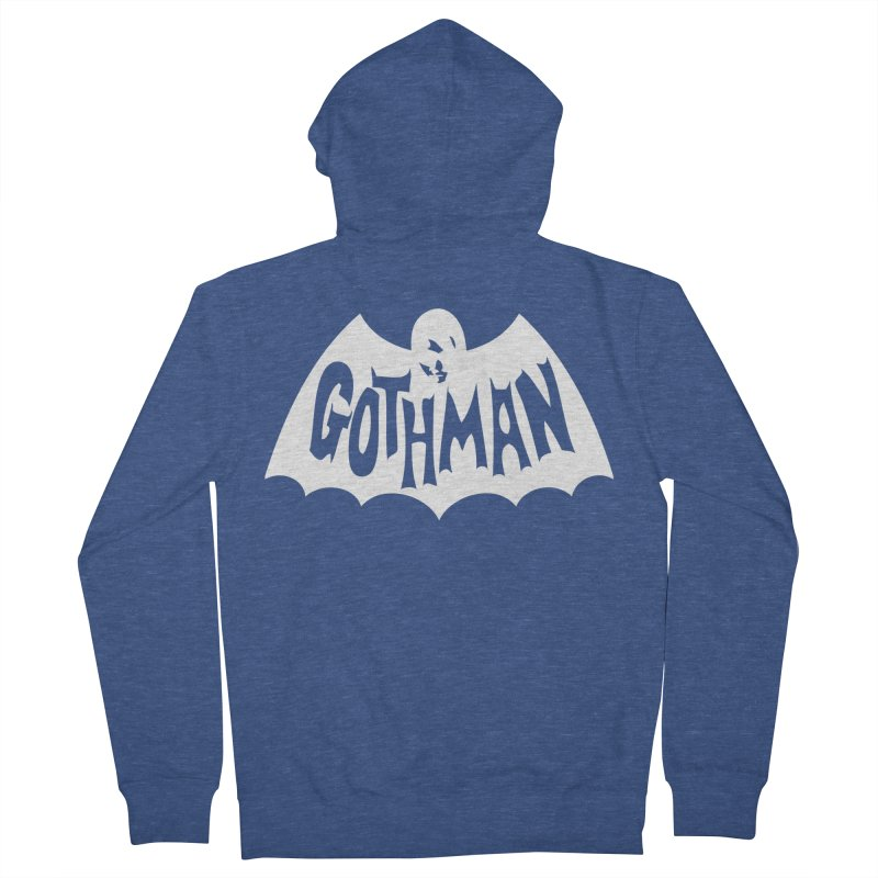Gothman Classic White Men's Zip-Up Hoody by Gothman Flavored Clothing