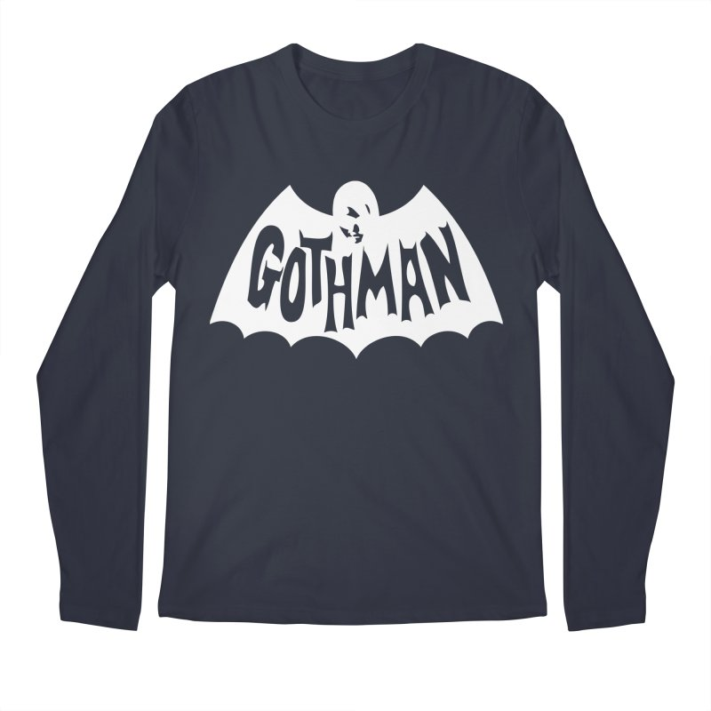 Gothman Classic White Men's Longsleeve T-Shirt by Gothman Flavored Clothing