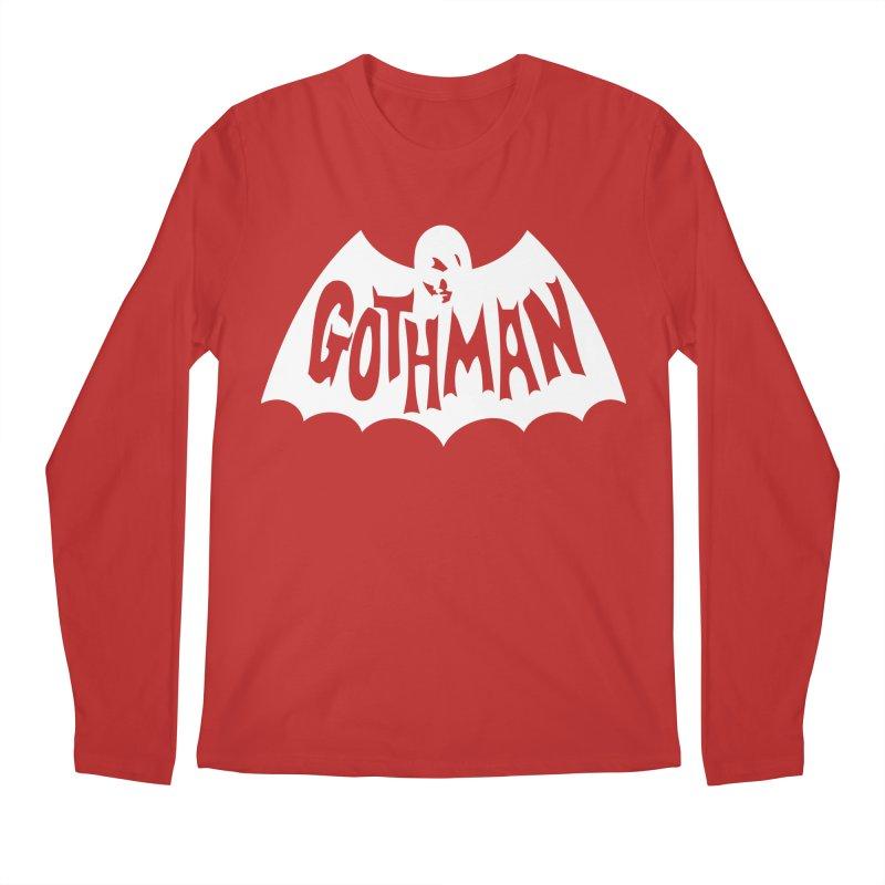 Gothman Classic White Men's Regular Longsleeve T-Shirt by Gothman Flavored Clothing