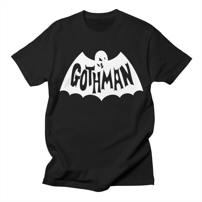 Gothman Classic White in Men's T-Shirt Black by Gothman Flavored Clothing