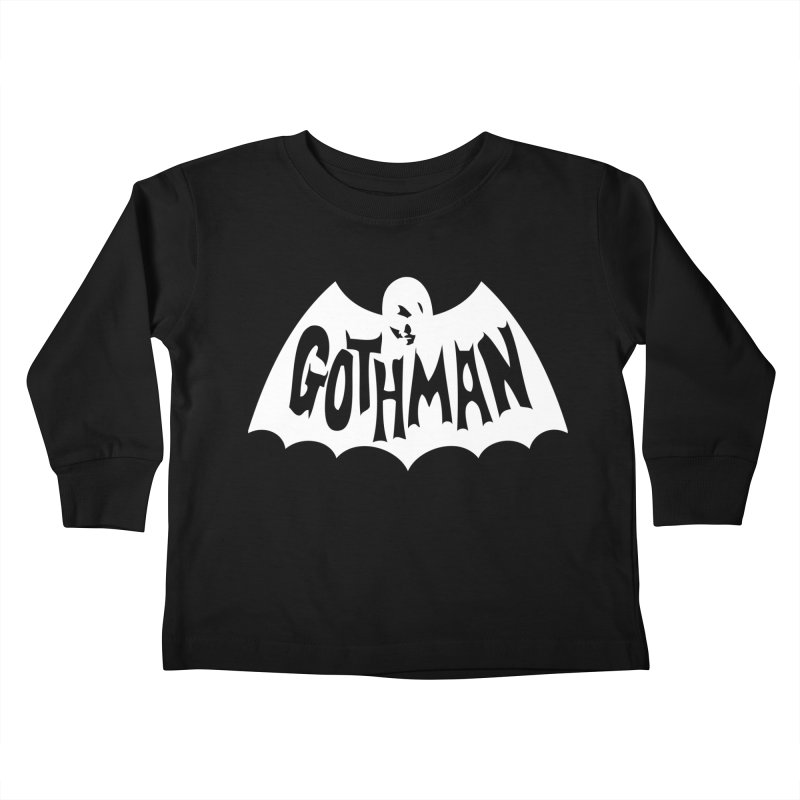 Gothman Classic White Kids Toddler Longsleeve T-Shirt by Gothman Flavored Clothing