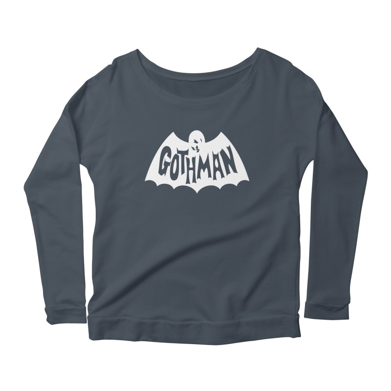 Gothman Classic White Women's Scoop Neck Longsleeve T-Shirt by Gothman Flavored Clothing