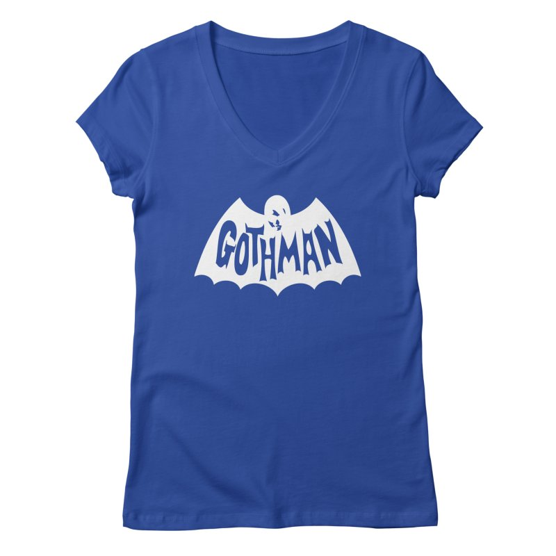 Gothman Classic White Women's Regular V-Neck by Gothman Flavored Clothing