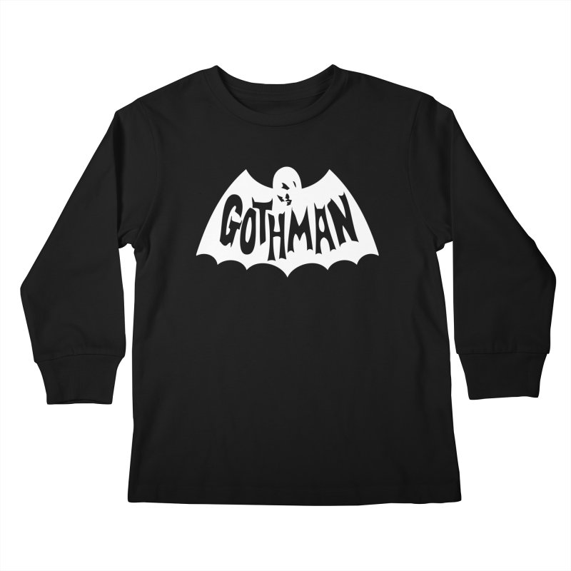Gothman Classic White Kids Longsleeve T-Shirt by Gothman Flavored Clothing