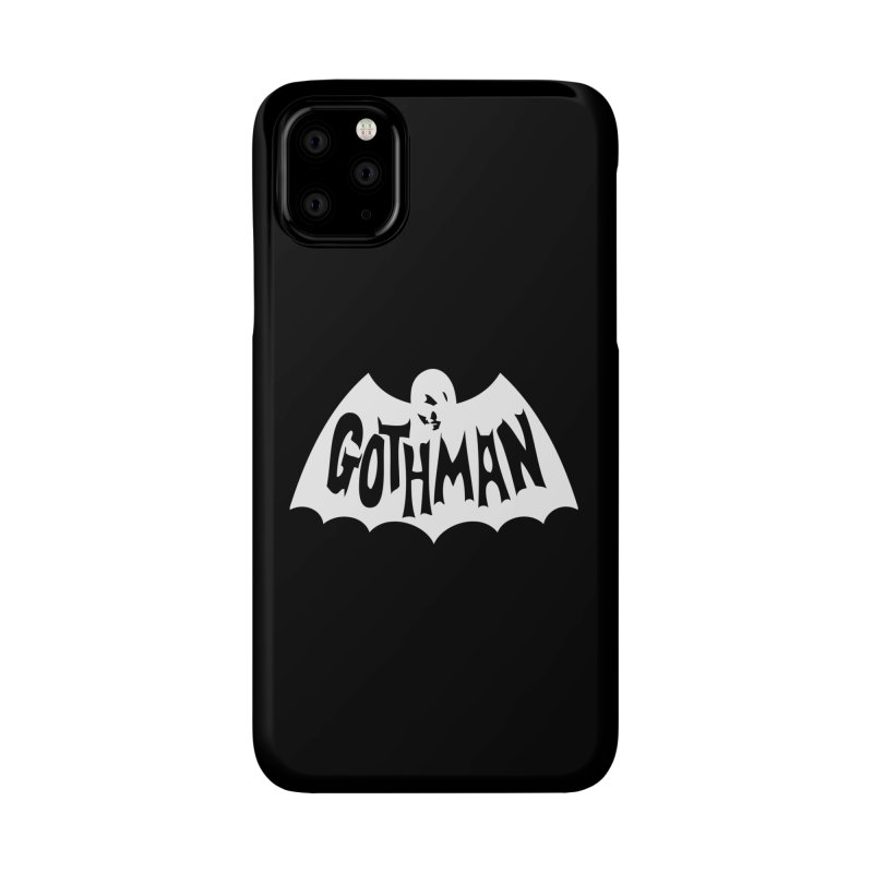 Gothman Classic White Accessories Phone Case by Gothman Flavored Clothing