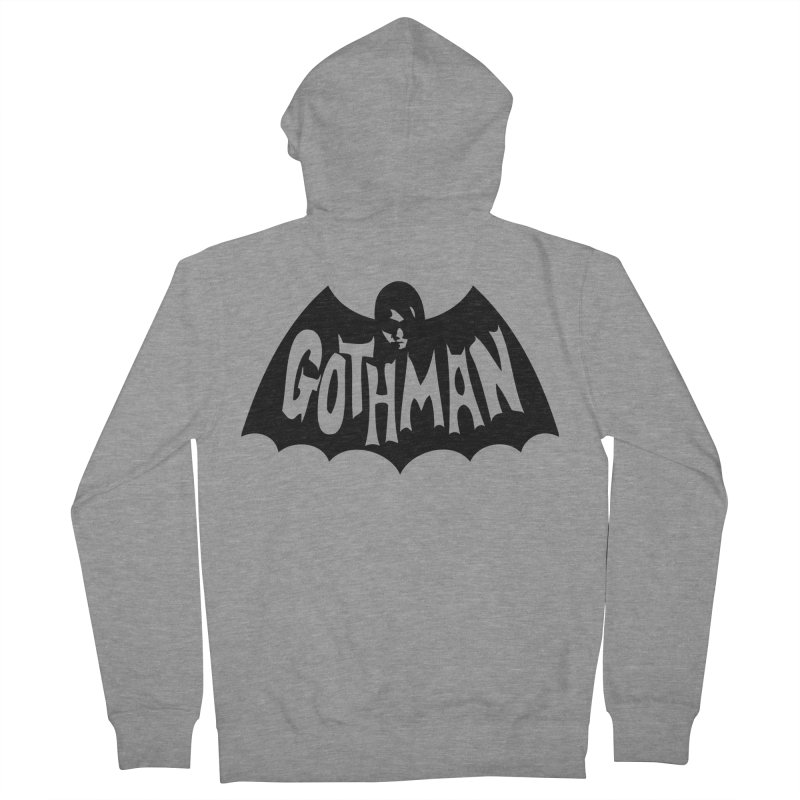 Gothman Classic Black Women's Zip-Up Hoody by Gothman Flavored Clothing