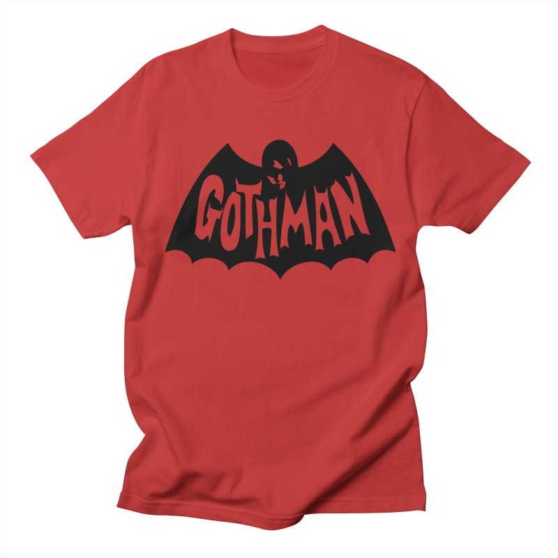 Gothman Classic Black Men's T-Shirt by Gothman Flavored Clothing