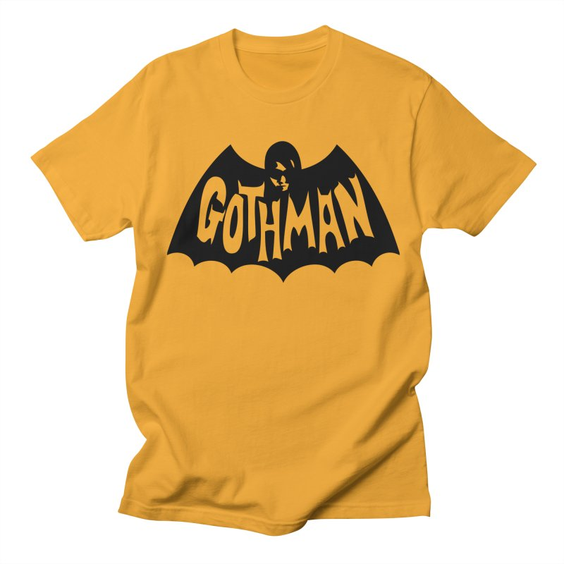 Gothman Classic Black Men's T-Shirt by Gothman Flavored Clothing