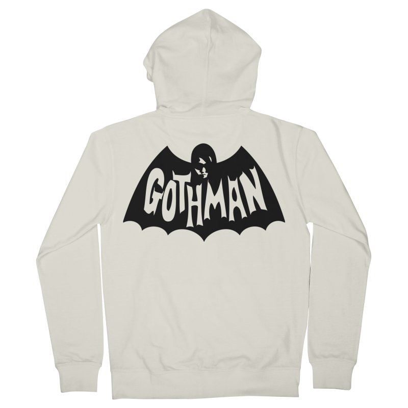 Gothman Classic Black Women's French Terry Zip-Up Hoody by Gothman Flavored Clothing
