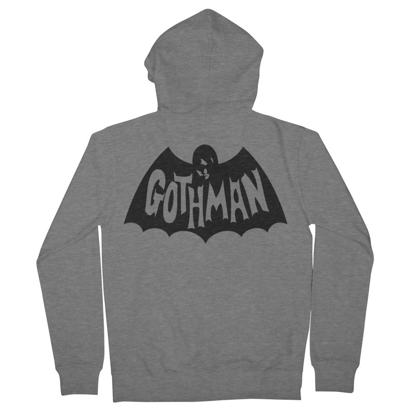 Gothman Classic Black Men's Zip-Up Hoody by Gothman Flavored Clothing