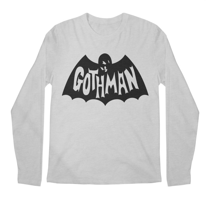 Gothman Classic Black Men's Longsleeve T-Shirt by Gothman Flavored Clothing