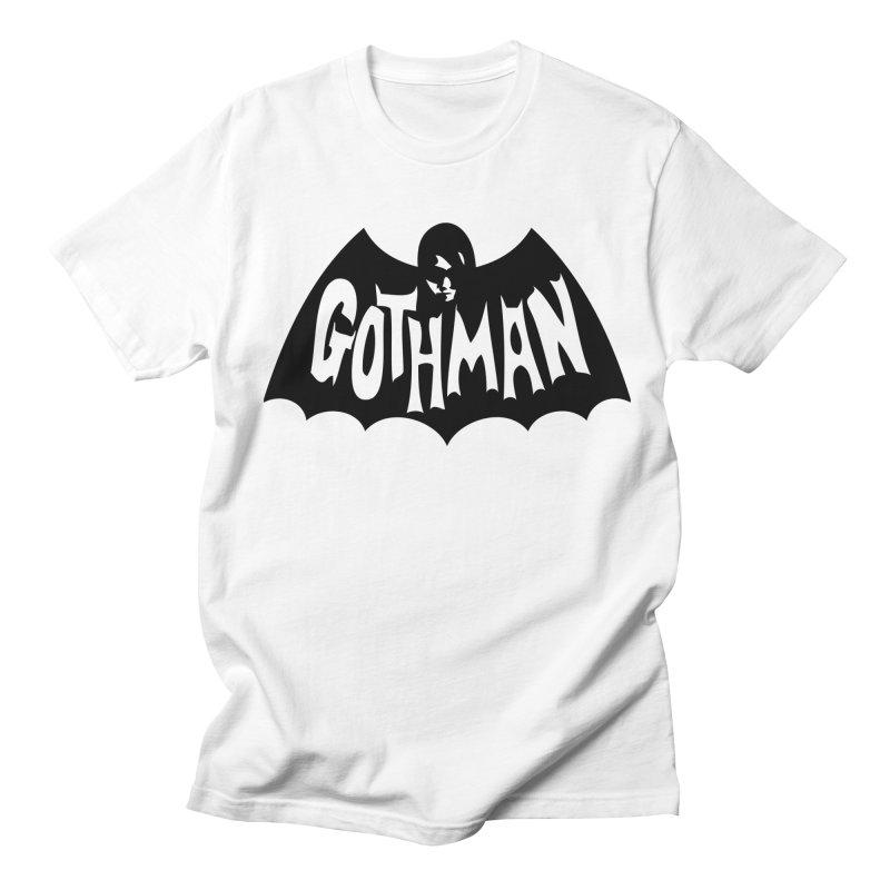 Gothman Classic Black Women's Regular Unisex T-Shirt by Gothman Flavored Clothing