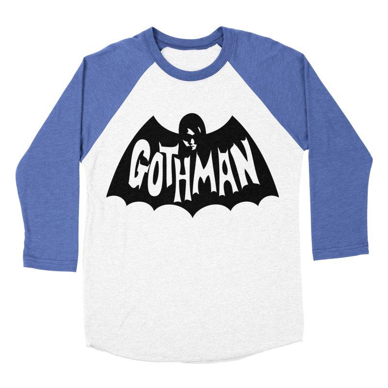 Gothman Classic Black Men's Baseball Triblend T-Shirt by Gothman Flavored Clothing