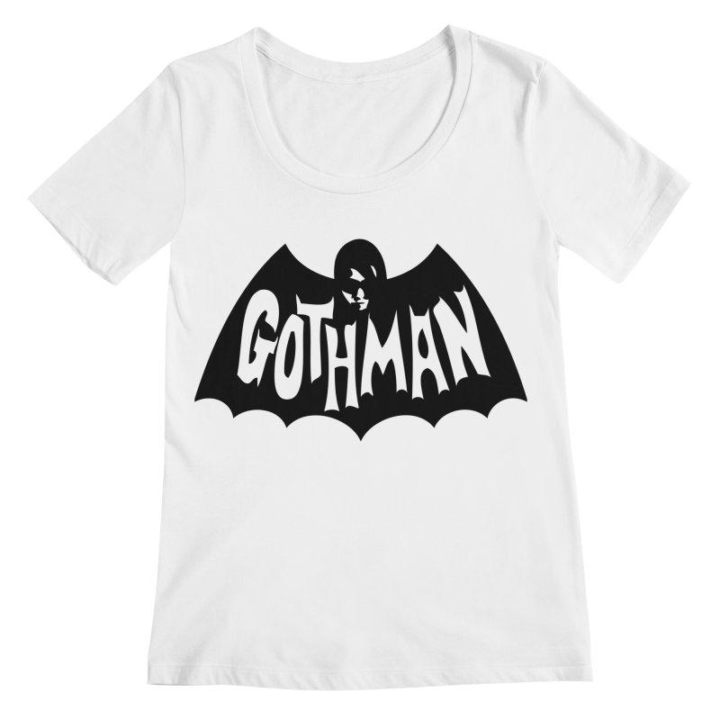 Gothman Classic Black Women's Regular Scoop Neck by Gothman Flavored Clothing