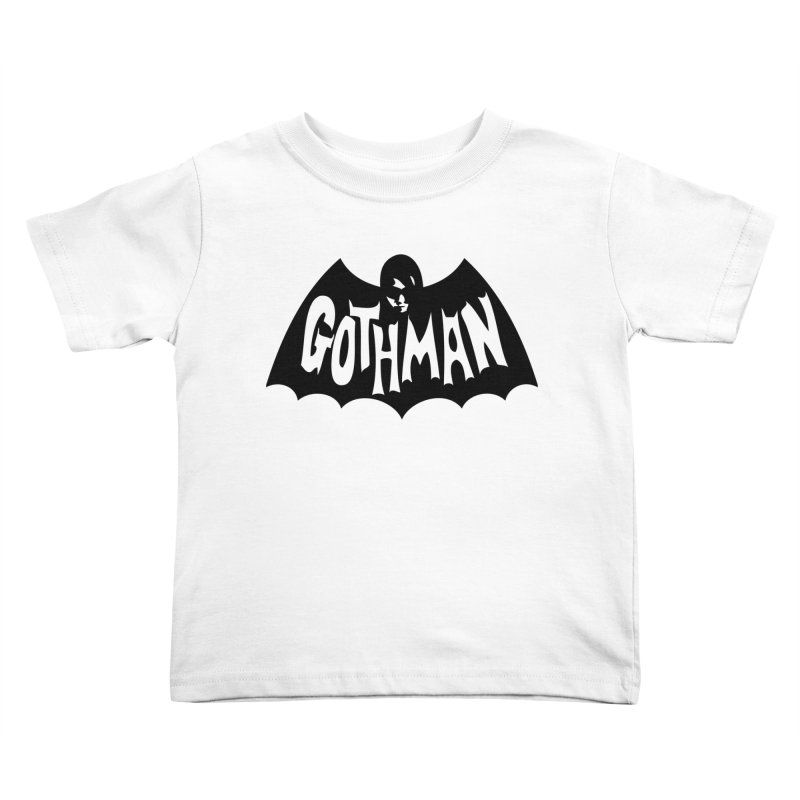 Gothman Classic Black Kids Toddler T-Shirt by Gothman Flavored Clothing