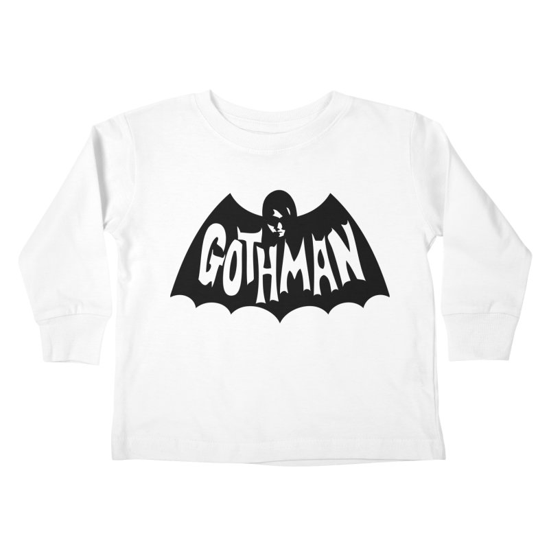 Gothman Classic Black Kids Toddler Longsleeve T-Shirt by Gothman Flavored Clothing