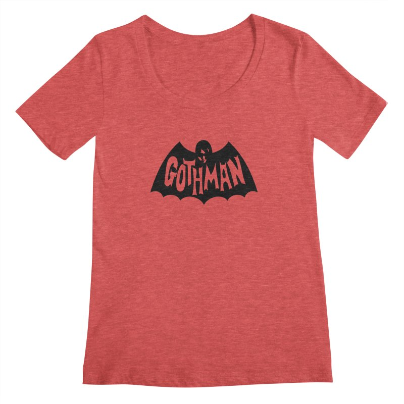 Gothman Classic Black Women's Scoopneck by Gothman Flavored Clothing