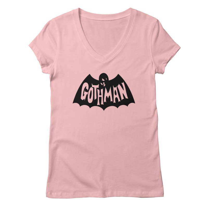 Gothman Classic Black Women's Regular V-Neck by Gothman Flavored Clothing