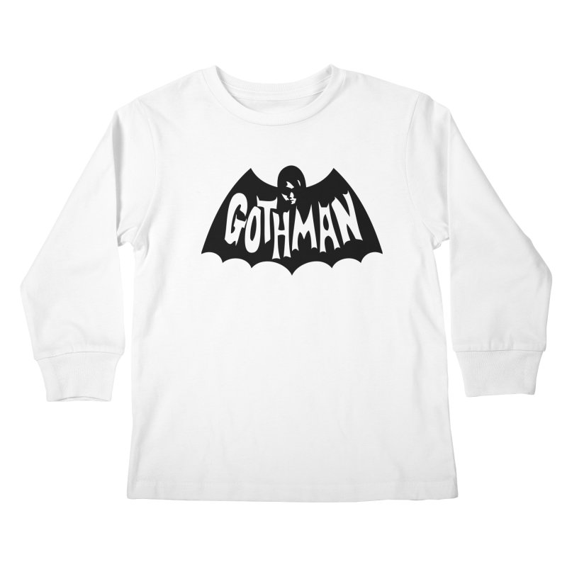 Gothman Classic Black Kids Longsleeve T-Shirt by Gothman Flavored Clothing
