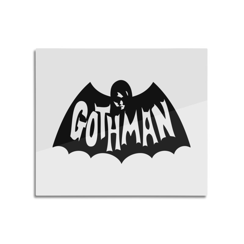 Gothman Classic Black Home Mounted Aluminum Print by Gothman Flavored Clothing
