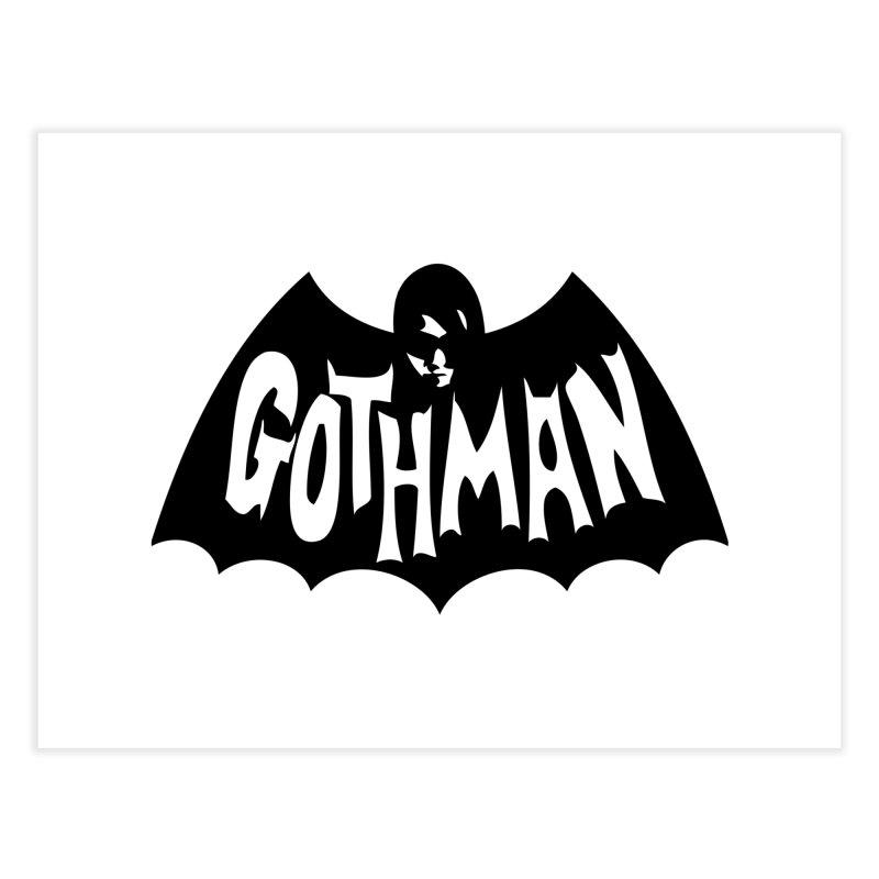 Gothman Classic Black Home Fine Art Print by Gothman Flavored Clothing